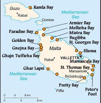 La Valette Malte plage